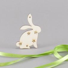 Malý zajíček - dřevěná dekorace